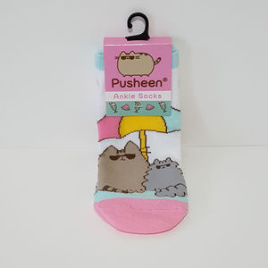 Pusheen & Stormy Summer Ankle Socks